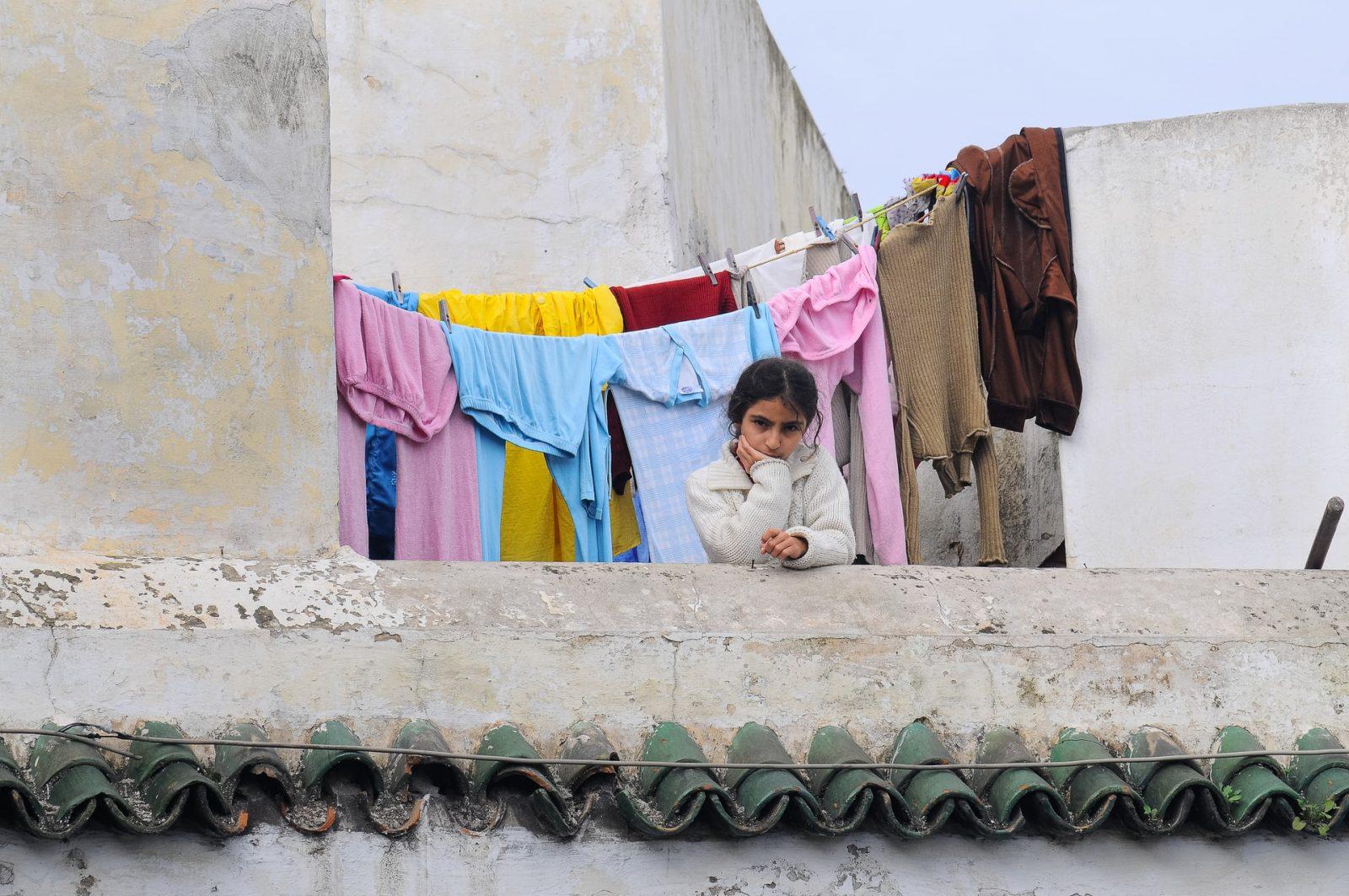 ילדה בקזבלנקה מרוקו