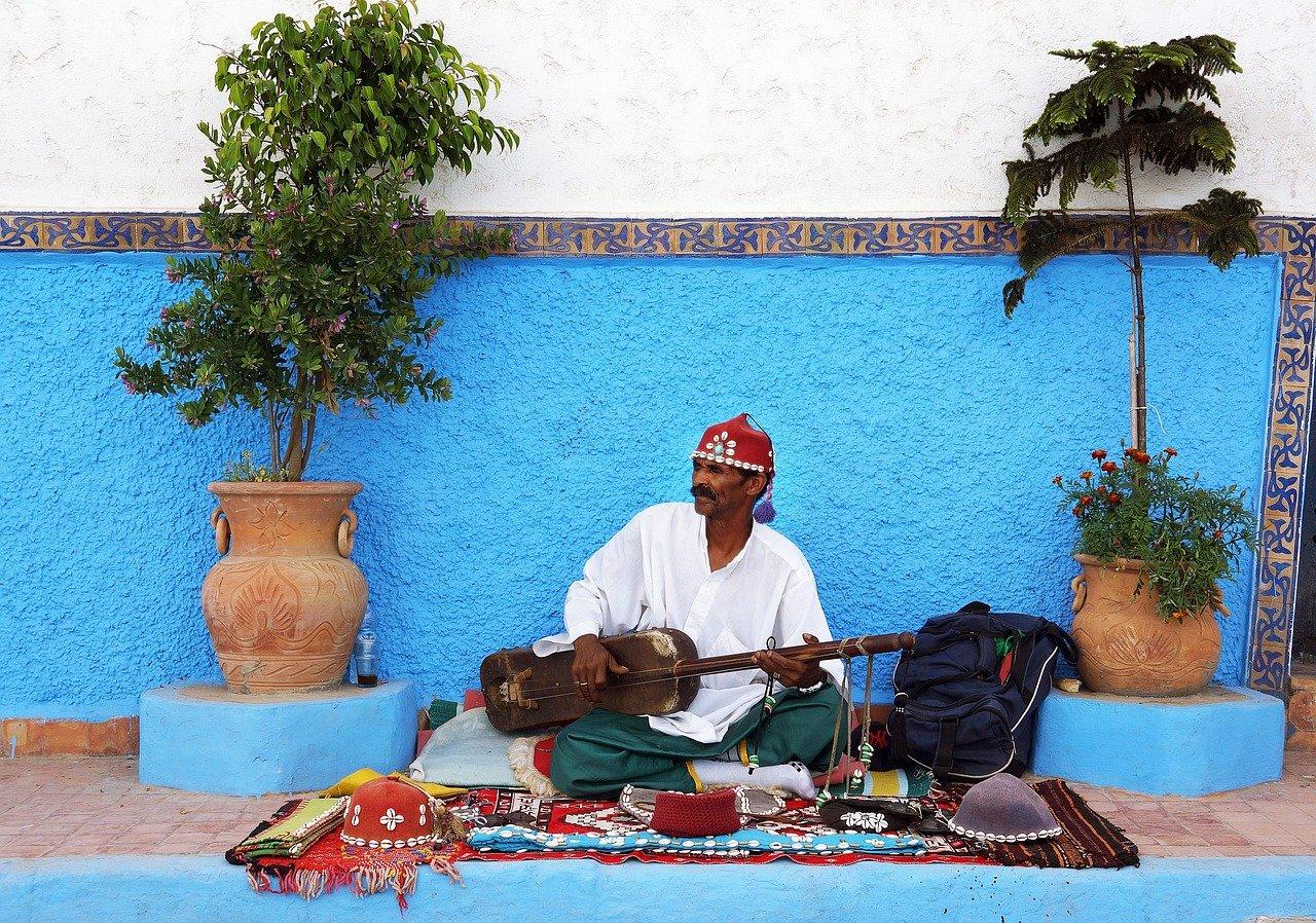 נגן מקומי במרקש מרוקו